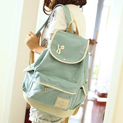 Canvas Love - Bow Accent Canvas Backpack