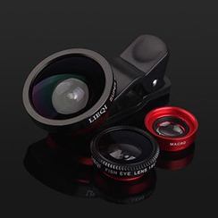 BAINER - 3-in-1 Mobile Camera Lens Kit: Wide Angle + Micro + Fish Eye