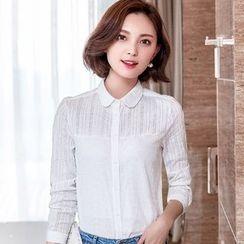 Eferu - 蕾丝拼接长袖衬衫