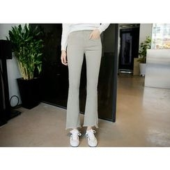 Envy Look - Fray-Hem Boot-Cut Pants