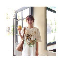 LEELIN - Short-Sleeve Printed T-Shirt