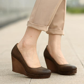 59 Seconds - Faux Leather Wedges
