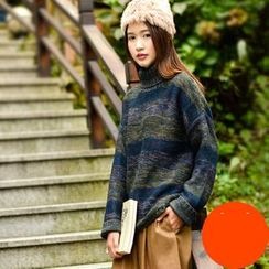 Yammi - Turtleneck Striped Sweater