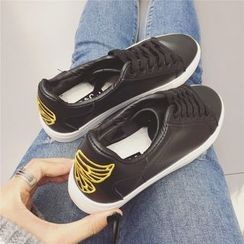 kokoin - Wing Embroidered Sneakers