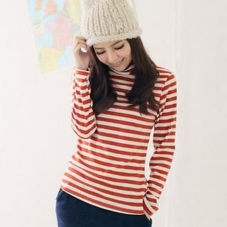 CatWorld - Turtleneck Striped T-Shirt