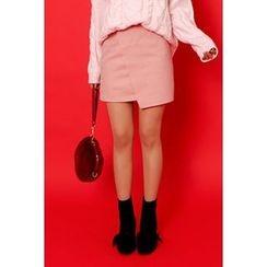 migunstyle - Asymmetric-Hem Skirt