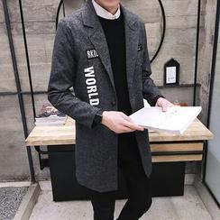 JORZ - Letter Lapel Knit Coat