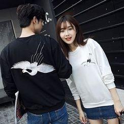 尚雅姿 - 情侶款刺繡衛衣