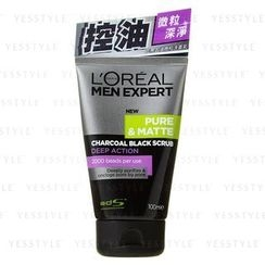 L'Oreal - Men Expert Pure and Matte Charcoal Black Scrub