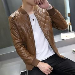 JORZ - Quilted Faux Leather Jacket