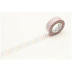 mt - mt Masking Tape : mt 1P Broken Line Dot Red