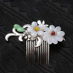 Paparazzi - Floral Hair Pin / Hair Comb