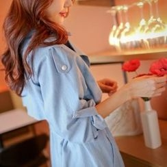 Styleberry - Denim Trench Coat