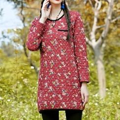 Diosa - Flower Print Quilted Tunic