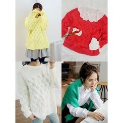 LOLOten - Drop-Shoulder Cable-Knit Sweater