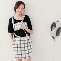 Tokyo Fashion - Suspenders Check Skirt