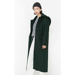 Someday, if - Hooded Wool Blend Long Coat