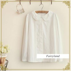 Fairyland - Layered Lace Collar Long-Sleeved Blouse