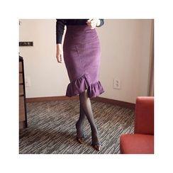 MASoeur - Frill-Hem Mermaid Skirt