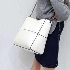 LINGLAN - 套裝: 仿皮手提袋 + 單肩包
