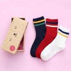 Socka - 3 Pairs: Kids Striped Socks