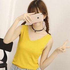 Honey House - V-Neck Knit Tank Top
