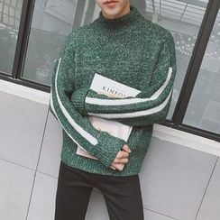 JUN.LEE - Panel Turtleneck Knit Top