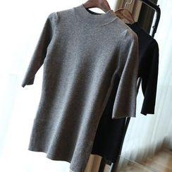 YIDIYU - 短袖針織上衣