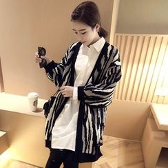 Hibisco - Zebra Print Long Cardigan