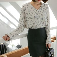WITH IPUN - Floral-Pattern Blouse