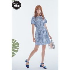 BONGJA SHOP - Patterned A-Line Dress