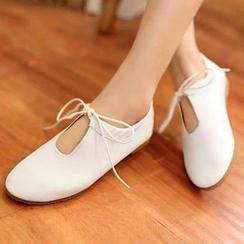 幸福鞋坊 - 蝴蝶結平跟鞋