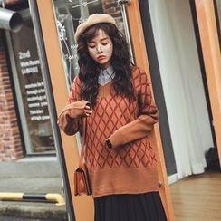Ashlee - Diamond Long Sweater