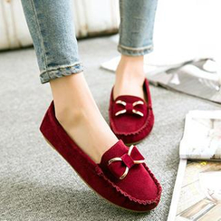 HOONA - Bow-Accent Moccasin Flats