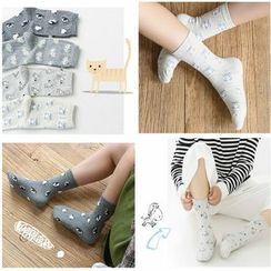 Knit a Bit - Animal-Pattern Socks 4 Pairs