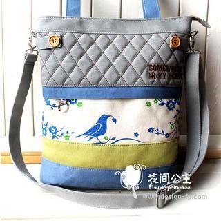 Flower Princess - Bird Printed Shoulder  Bag