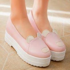 YOUIN - Platform Hidden-Heel Shoes