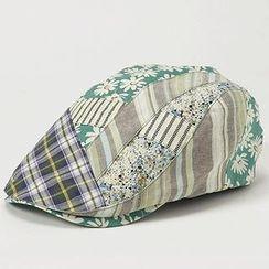 GRACE - Mixed Fabric Hunting Cap
