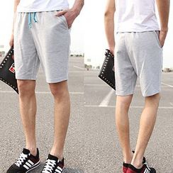 Telvi - Drawstring Sweat Shorts