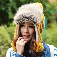Momiton - Pompom Furry Knit Beanie