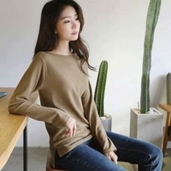Hello sweety - Boat-Neck Long-Sleeve T-Shirt