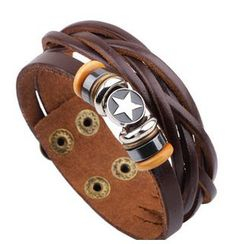 KINNO - Layered Faux Leather Bracelet