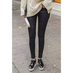 migunstyle - Fleece-Lined Skinny Pants