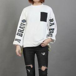 Momewear - Lettering Pocket Pullover