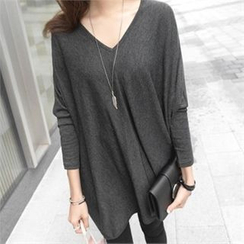 PIPPIN - V-Neck Batwing-Sleeve Tunic