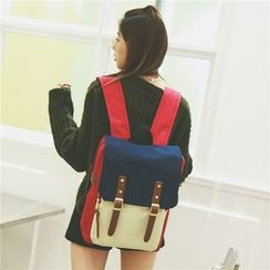 Bam's - Color-Block Oxford Backpack