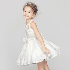 HELLO BABY - 小童無袖蝴蝶結派對連衣裙