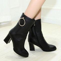 Romantina - Block Heel Short Boots