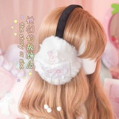 AOI - Flower Beaded Earmuff