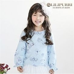 LILIPURRI - Girls Tie-Back Floral Print Top